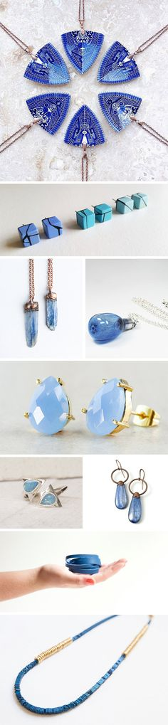 Touches of blue will make your jewelry collection stand out and be fashion forward. #EtsyWholesale #TrendReport