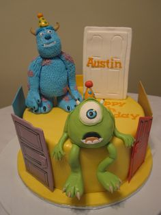 Monsters Inc. Cake-- perfect!
