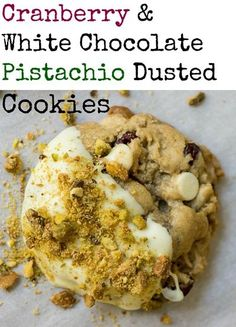 chocolate pistachio dusted cookies cranberry white chocolate pistachio ...