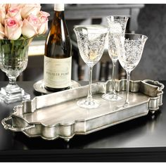 Celine Silver Tray. #laylagrayce #entertaining #gifts $90.00