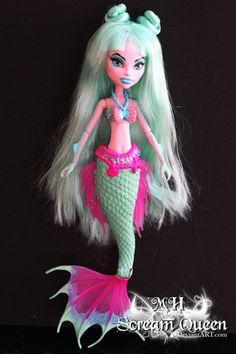Hallowen Custom Monster High Doll Marianna Pearl by Avril Queen Mhscreamqueen OOAK Custom Monster High Dolls, Monster High Repaint, Monster Dolls, Custom Dolls, Romwe, Ever After Dolls, Bff, Barbie, Love Monster