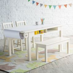 Classic Playtime Vanilla Deluxe Activity Table with Free Paper Roll - LFY142