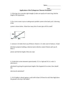 Printables Pythagorean Theorem Word Problems Worksheet pythagorean theorem word problems words and this worksheet has 5 application level that require students to utilize the most of p