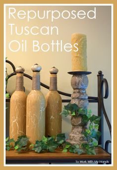 The next time you have a gorgeous bottle, don't toss it - create some repurposed decor.
