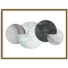 Art Addiction Inc. Marble Moons Wall Art - 100% Exclusive (179.420 HUF) ❤ liked on Polyvore featuring home, home decor, wall art, art, decor, furniture, backgrounds, borders, grey and picture frame