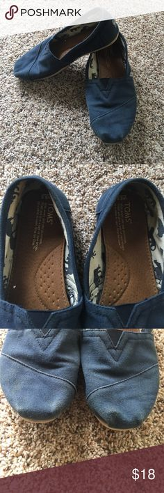 Womens TOMS shoes Women's navy blue toms classic flats. A little fading. Still GUC and lots of life left. No holes. TOMS Shoes Flats & Loafers