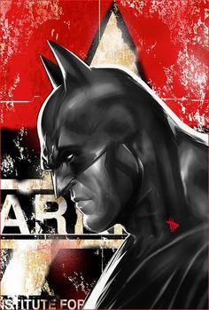 Batman Portrait #ConceptArt from #BatmanArkhamCity