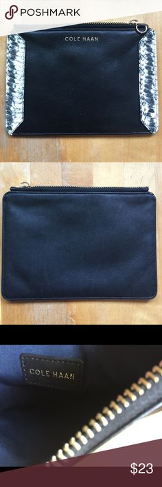 cole haan small bag The strap was missing so put it on sale! Great black leather. No damage, smoke free! Cole Haan Bags Clutches & Wristlets
