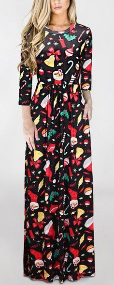 A maxi Chritmas dress to buy for the holidays