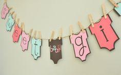 Baby girl onesie banner baby shower onesie theme baby
