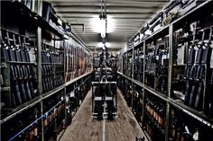 "Yeah hold on a sec, I think I have one in my closet, let me check."" (Gotta wonder where this is. it's not a military armory w/ AK's & shotguns mounted up high, but those are mil-spec racks."