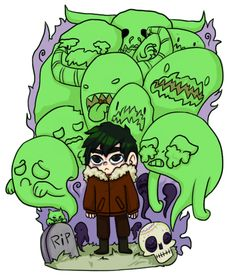 Nico di Angelo; The Ghost King << With all the oddly emotional ghosts behind him XD