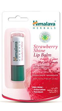 Strawberry Shine Lip Balm Soft, moisturized lips with glossy shine Get glossy shine and soft and supple lips with our petroleum-free lip balm, formulated with vegetable oils, which is free from preservatives. Enriched with Strawberry Seed Oil, a rich antioxidant, it conditions and moisturizes lips. Apricot Kernel Oil soothes chapped lips. Provides long lasting moisture and protection, leaving a delicate hue of strawberry. http://www.shopcost.in/himalaya+strawberry+shine+lip+balm