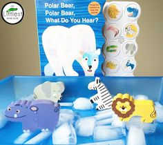 Polar Bear, Polar Bear, What Do You Hear? Book-inspired activity perfect for toddlers, tot school, preschool or kindergarten!