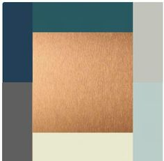 Navy Teal Gray With Copper Color Palette