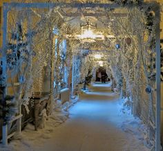 WOW!  A house decorated like Narnia.  I would love this!