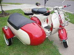 Beautiful vintage 1964 Vespa with Sidecar -