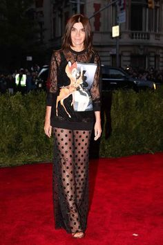 "Carine Roitfeld, at Met Gala 2013:""Punk: Chaos to Couture"", in total look by Givenchy from the Autumn/Winter 2014 collection - May 2013"