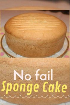 3 Ingredient Sponge Cake - Biskvit- Easy, foolproof recipe for a basic yellow sponge cake that is level, moist and perfect every time Perfect Sponge Cake Recipe, Sponge Cake Recipes, Easy Cake Recipes, Cookie Recipes, Dessert Recipes, Best Vanilla Sponge Cake Recipe, Apple Sponge Cake, Sponge Cake Easy, Sponge Recipe