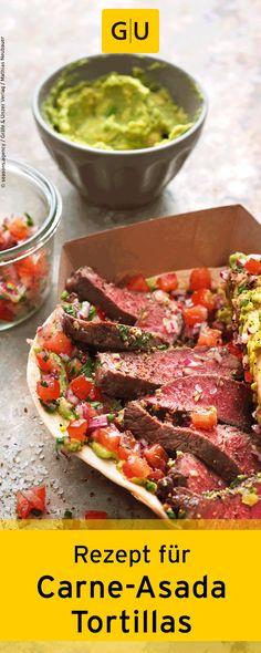 """Rezept für selbstgemachte Carne-Asada-Tortillas mit Rindfleisch. Ihr findet es in der Leseprobe zum Buch """"Streetfood"""".⎜GU"""