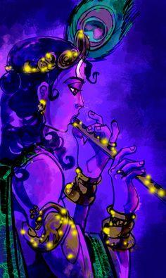 Krsna by Vinay Brahmania Radha Krishna Pictures, Lord Krishna Images, Radha Krishna Photo, Krishna Art, Krishna Leela, Krishna Songs, Radhe Krishna, Krishna Tattoo, Krishna Mantra