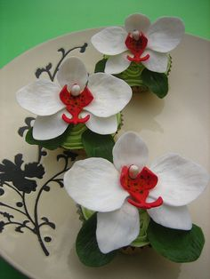 White Phalaenopsis orchids Cupcakes