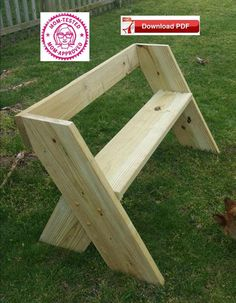 Garden Bench Plan/wood bench plan/porch bench plan/patio banch plan/single seat bench/wood seat plan/patio seat plan/wood pdf plan/pdf plan - DIY Home Decor Garden Bench Table, Garden Bench Plans, Porch Bench, Diy Garden Benches, Bench Seat, Outdoor Benches, Diy Patio, Woodworking Projects Diy, Diy Wood Projects