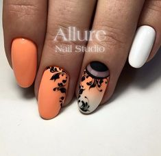 Wondrous Nail Arts for Ladies - Vincisjournal Fancy Nails, Pretty Nails, Acrylic Nail Designs, Nail Art Designs, Nagellack Trends, Round Nails, Autumn Nails, Nagel Gel, Flower Nails