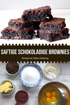 Simple recipe for chocolate brownies – super juicy. These are even gluten-free! Simple recipe for chocolate brownies – super juicy. These are even gluten-free! Fudge Brownies, Brownies Caramel, Chocolate Brownies, Brownie Recipes, Chocolate Recipes, Cookie Recipes, Dessert Recipes, Dessert Simple, Sin Gluten