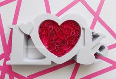 pink heart girl nursery decor love sign love by WonderCraftShop