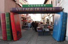 Book village, Cuisery, France