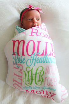 Baby swaddle bow 30 maybe one day far away pinterest summer savings personalized baby blanket monogrammed baby blanket name blanket swaddle receiving blanket baby shower gift photo prop birth a negle Choice Image