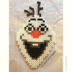Olaf Frozen hama perler beads by la.vache.qui.fimote