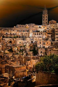 Matera is a city and a province in the region of Basilicata, in southern Italy.