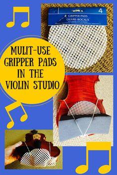 Violin Studio Hacks! (Multi-Use Gripper Pads) #ViolinTeaching, #ViolinHacks, #BowHold, #SuzukiViolin www.MusicforYoungViolinists.com