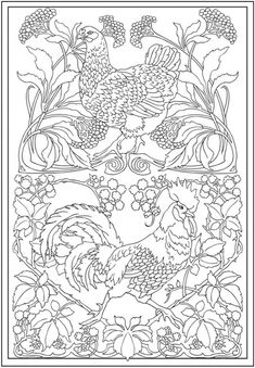 Creative Haven Art Nouveau Animal Designs Coloring Book Dover Publications By Tina Turner Find This Pin And More