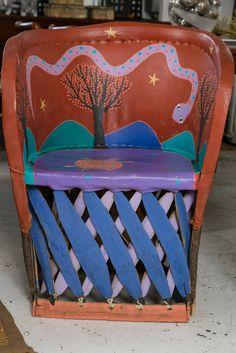 Folk Art Cowboy And Indian Bench, Santa Fe, New Mexico | Santa Fe, Folk Art  And Folk