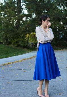 Kate Spade-Inspired Midi Skirt   AllFreeSewing.com