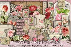 Shabby Vintage, Etsy Vintage, Vintage Sewing, All Paper, Paper Art, Journal Cards, Junk Journal, Pocket Envelopes, Vintage Newspaper