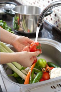 Great recipe for washing pesticides off produce