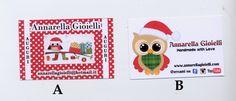 30 pezzi Biglietti da visita personalizzati, business cards, natale, Christmas card, owl, gufo, handmade, personalizzabili, gift, regali di annarellagioielli su Etsy