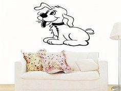 Cute Dog Puppy Nursery Kids Room Grooming salon Pet care Wall Art Sticker 5536