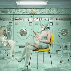 Stunning once again! Launderette: new work by Ray Caesar.