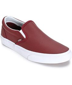 14cddf610b Vans Classic Port Perforated Leather Slip-On Shoes