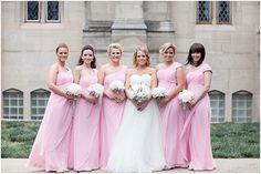 Bridesmaids in Pink-Cory + Jackie Wedding Photographers