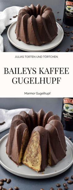 Baileys Kaffee Marmor Gugelhupf Einfaches Rezept für einen saftigen Marmor Gugelhupf mit Kaffee und Baileys, der schnell gemacht ist. Natürlich mit Schokoüberzug und extra viel Baileys.