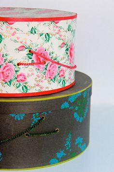 Vintage Hat Box - Set of 2. $30.00, via Etsy.