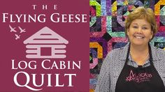 The Flying Geese Log Cabin Quilt: Easy Quilting Tutorial with Jenny Doan...