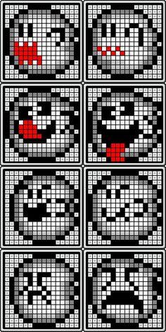 クロスステッチパターン(テレサ8ポーズ)