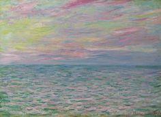 Claude Monet (1840-1926) - Coucher de soleil à Pourville, pleine mer, 1882, Oil on canvas